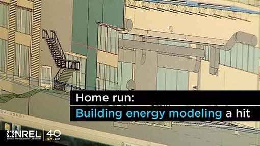 A 3-D rendering of a building energy model.