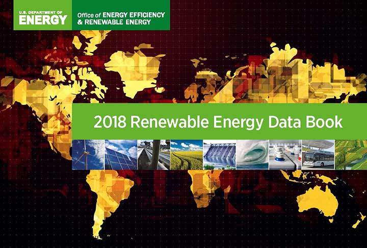 Image of cover of 2018 Renewable Energy Data book