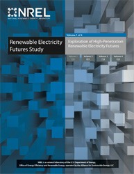 Image of the cover to the Renewable Electricity Futures Study report.