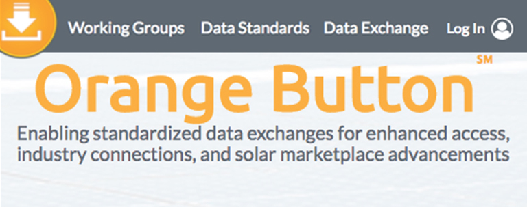 Screenshot image of Orange Button data website home page.