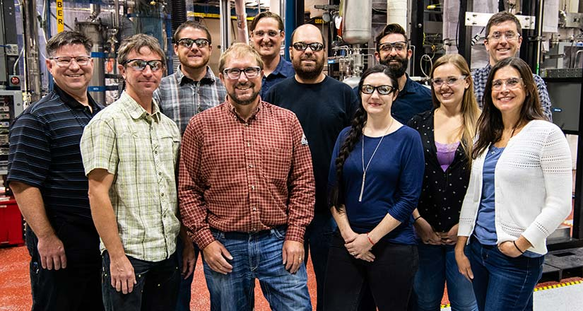 Group photo of the Thermochemical Process Integration, Scale-Up, and Piloting team