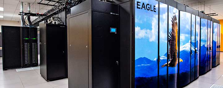 Photo of the Eagle supercomputer
