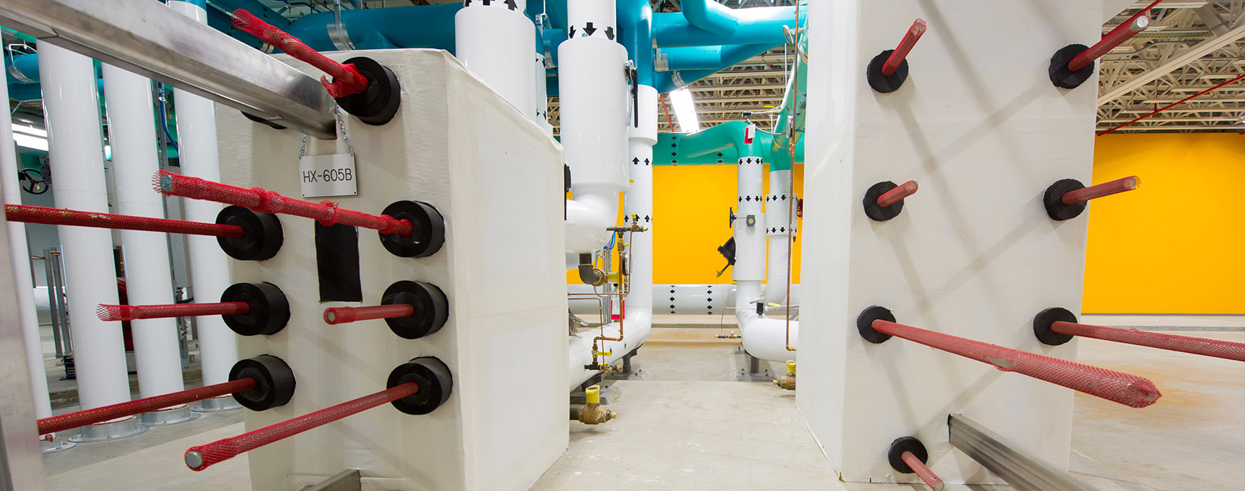 Photo of heat exchangers in data center integrated control room