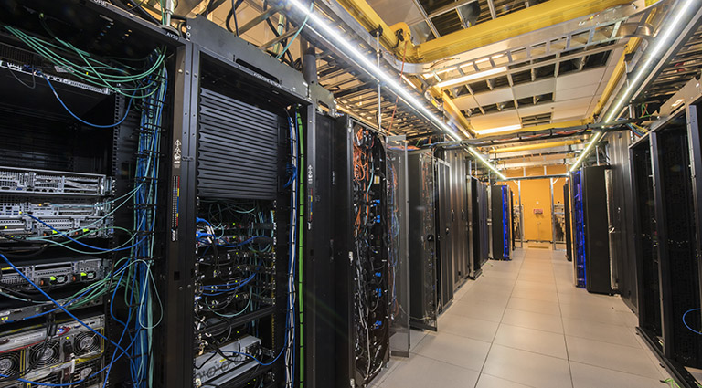 Photo of high-performance computing racks