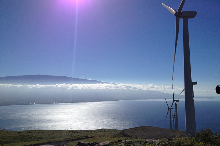 Wind farm in Maui, Hawaii