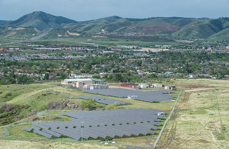 A photo of the Solar Radiation Research Laboratory at NREL.
