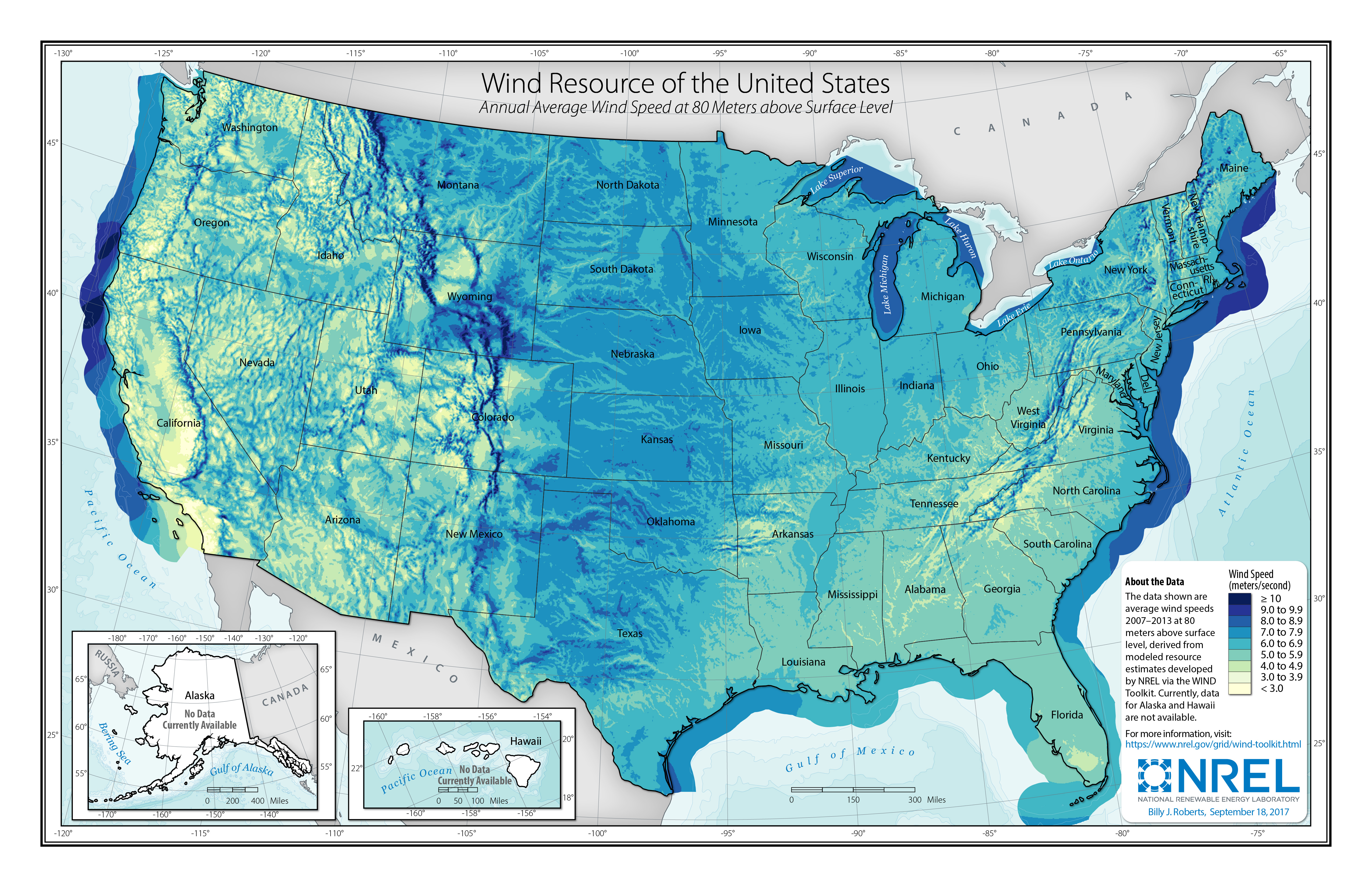 united states wind map Wind Resource Data, Tools, and Maps   Geospatial Data Science   NREL