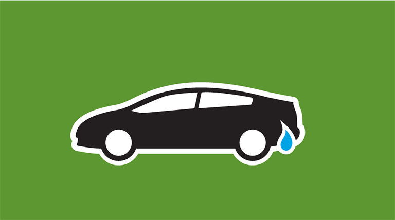 Icon of a car with a water droplet by the fuel tank. The word Cars is below the icon.