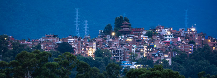 Nepal at night.