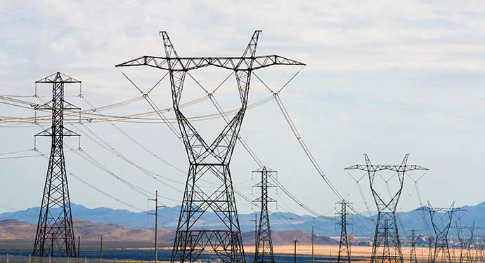 A photo of transmission lines.