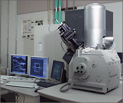 Materials characterization is an essential strength of the focused-ion beam (FIB) platform. Material can be removed or added while observing the evolution of the surface topography features of the specimen with ion beam stimulated secondary electrons