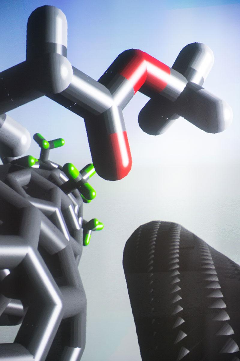 Graphic shows cellular nanotubes.