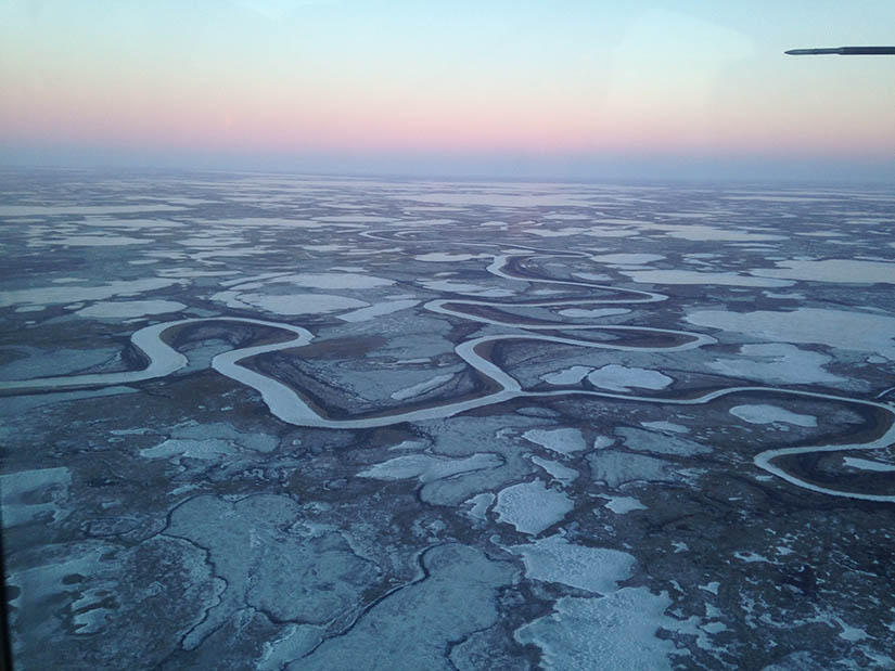 Aerial photo of the Yukon Kuskokwim region in Alaska