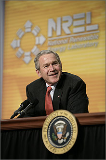 Photo of President George W. Bush.