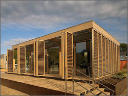 Photo of Technische Universität Darmstadt house, winner of the Solar Decathlon 2007.