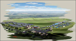 An illustration of a solar test facility that is now under construction near NREL.