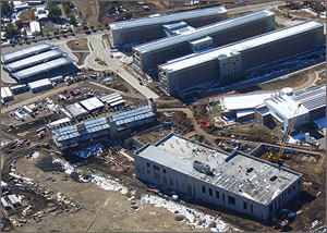 Aerial photo of the ESIF construction site.