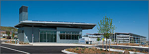 Photo of the south entrance building on the NREL campus.