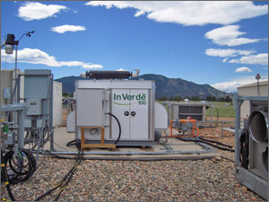 Photo of microgrid equipment.
