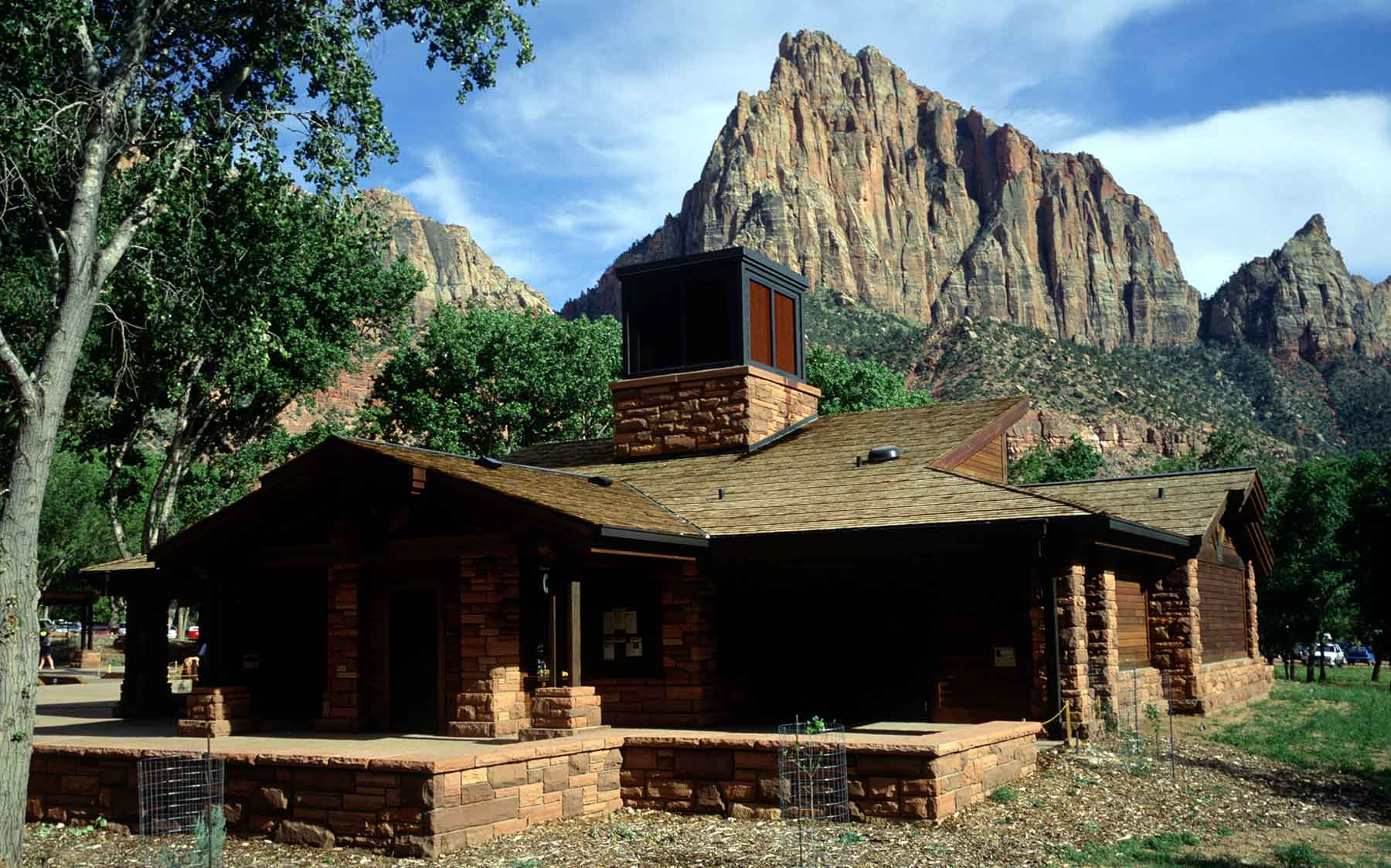 Photo of the sustainable visitor's center for Zion National Park