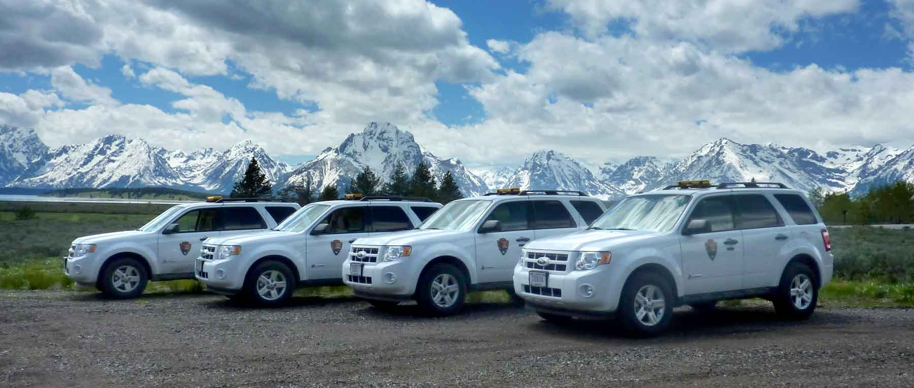 Photo of hybrid Ford Escape vehicles at Grand Teton National Park