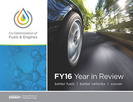 Report cover on Co-Optima Year in Review.