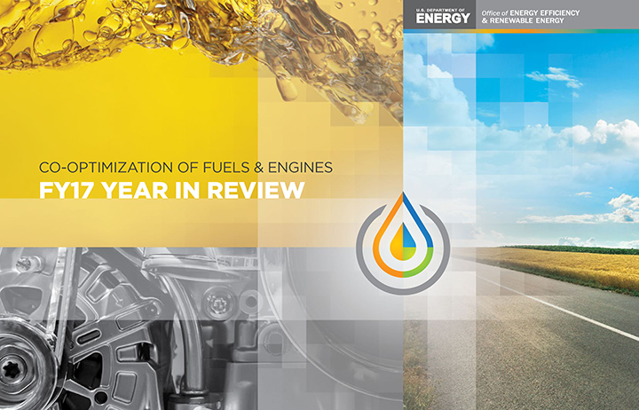 Photo of the cover of the Co-Optimization of Fuels and Engines FY17 Year in Review report