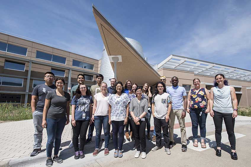 Students and NREL staff pose for a group photo during HOPE 2019.