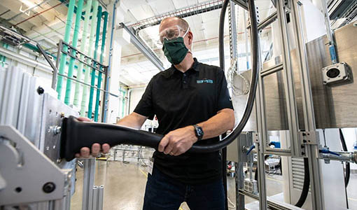 NREL-Hosted Event Supports Industry Development of Megawatt Charging System Connectors