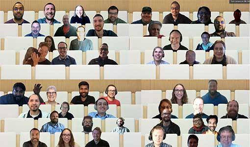 group photo of webinar participants