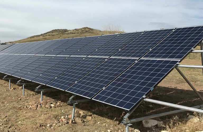 Photo of a PV solar array.