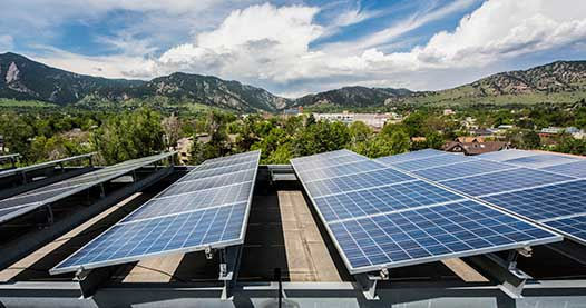 PV modules on the Walnut Place, 95 unit senior housing in Boulder, CO.