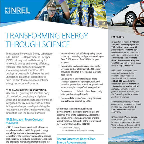NREL Fact Sheet cover