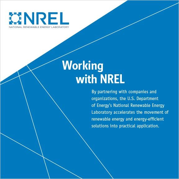 Working with NREL brochure cover