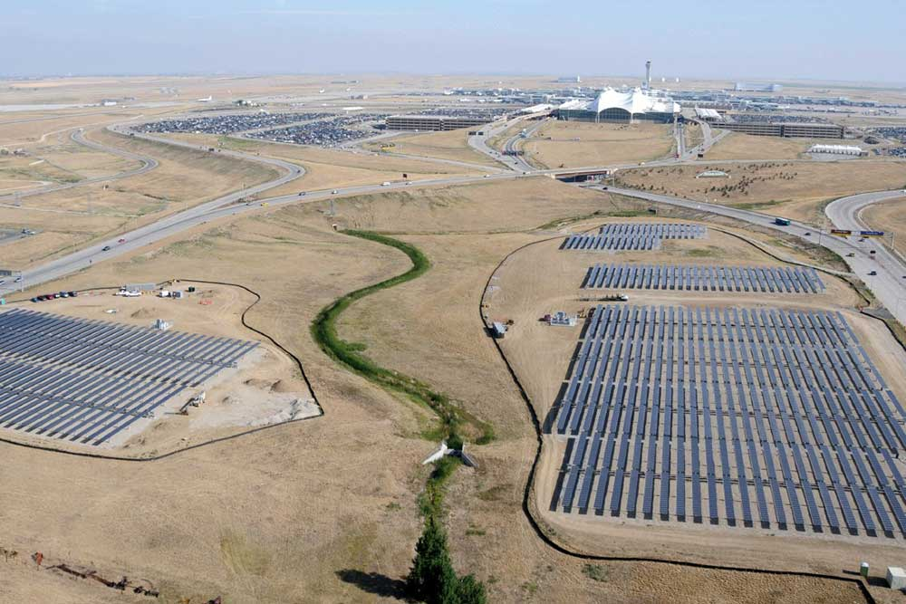 Photo of solar PV array at Denver International Airport