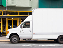 Photo of a delivery van