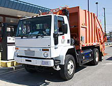 Photo of a refuse truck