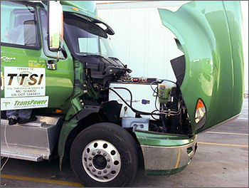 Photo of heavy-duty truck cab.