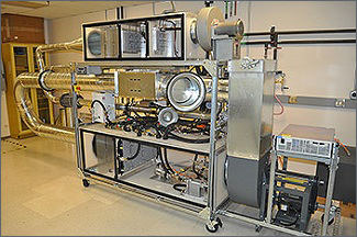 Image of combined fluid loops bench research apparatus.