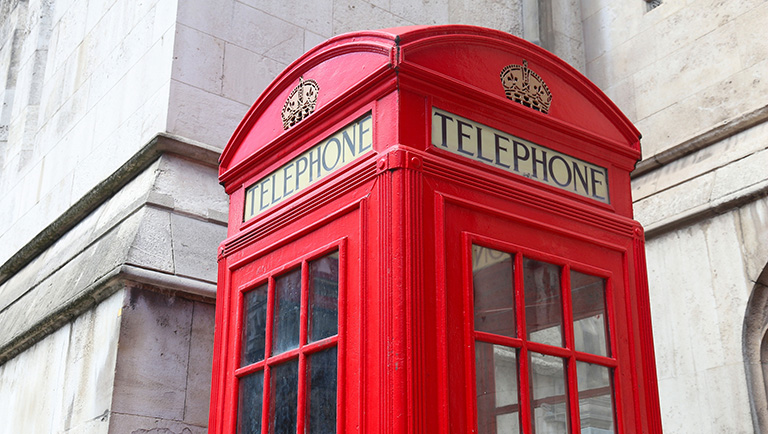Photo of a telephone box in London