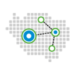 Renewable Energy Zones icon, showing a grid with dots representing different locations.