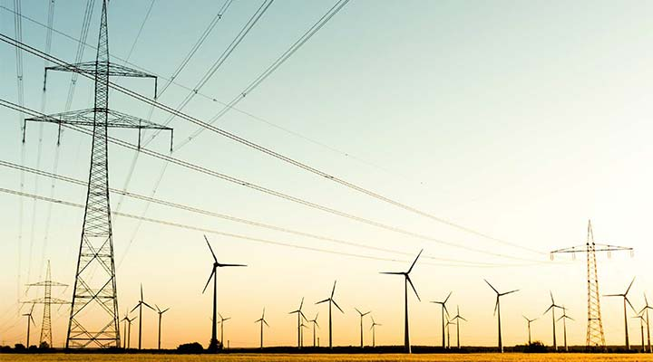 Wind turnines and transmission lines