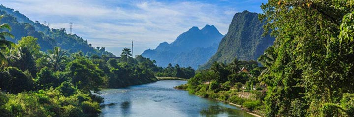 Photo of Vangvieng and Nam Song river in LAO PDR